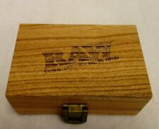 RAW Maple Wood Rolling Paper Storage Box w/ Magnetic Stash Limited Edition Clasp