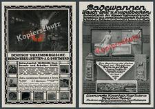 Or. publicitarias Poieni AG dortmund hugo Buderus fontanería Hirzenhain Bulgaria 1916