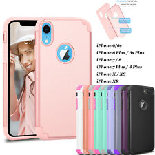 For iPhone XS Max XR X 8 7 6 Plus Case Shockproof Bumper Luxury Silicone Cover