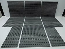 Lego 9 pc. Studded Base Plate,s Lot Gray {WASHED}