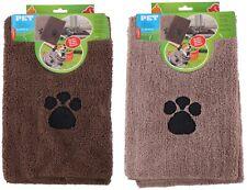 Haustierhandtuch mit Tatzenmotiv Saugfähig Hunde Badetuch Mikrofaser