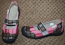 KEEN Harvest FALL PLAID Pink Green MJ Mary Jane Shoes Flats MINT 6 5.5
