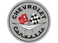 "Corvette Garage Wall or Floor Graphic Gray C1 Logo 44"""