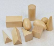 Montessori Wooden 3D GEOMETRIC SHAPES Early Childhood Educational Toy