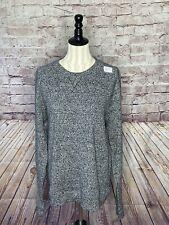J Lindeberg Men's SZ L Pullover Crew Speckled Sweater Black & White *SHIPS FREE*