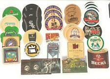 Lot of 30 Paper Beer & Beverage Coasters Bar Display for Man Cave Collection