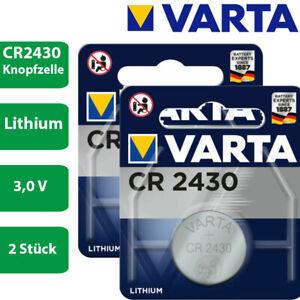 2 x Varta CR 2430 3V Lithium Batterie Knopfzelle 290mAh 6430 im Blister