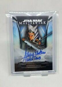2019 Star Wars Masterwork Ashley Eckstein Ashoka Tano Autograph 15/50 Rainbow