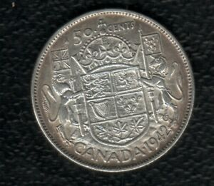 CANADA 50 CENTS 1942 SILVER