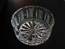 """Collectible Hibernia by Waterford Crystal Cut Glass Round Bowl Ireland 7"""" signed"""