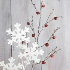 Iced Red Jingle Bell Branch 37 inches F3717579 SKI NEW RAZ