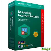 Kaspersky Internet Security 2019 1 MAC/PC 1Jahr VOLLVERSION / Upgrade DE-Lizenz