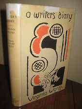 1st Edition A WRITER'S DIARY Virginia Woolf FIRST PRINTING Classic HOGARTH 1953