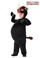 Kids Deluxe Bull Black Jumpsuit /& Headpiece Child Zip-Up Halloween Costume SM-LG