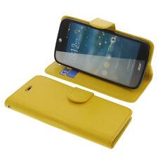 Custodia per Acer Liquid Jade Z Book-Style Guscio Protettivo Custodia Cellulare libro giallo