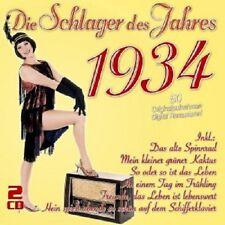 DIE SCHLAGER DES JAHRES 1934(COMEDIAN HARMONISTS,HILDE HILDEBRAND UVM) 2 CD NEU