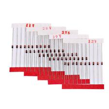 300pcs 30 Values 0.5W Zenor Diode Kits DO-41 1/2W 2V-39V 2.2V~15V