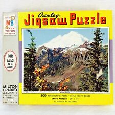 "Vintage 1965 MB Croxley 500 Piece Puzzle Mount Baker Wa New Sealed 20"" x 14"""