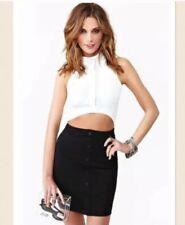 Nastygal Black And White Dress
