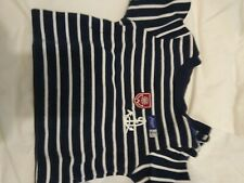 JACADI Boy's Navy Blue  Striped Shirt Long Sleeved  Top - Baby Size 18 months