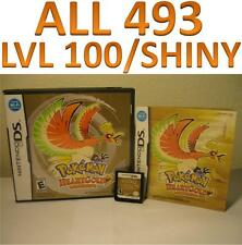 Pokemon Heart Gold DS DSI XL All 493 LvL 100 HeartGold
