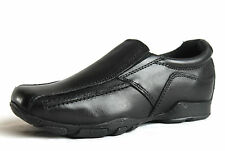 Hush Puppies Infant Boys UK 10 Black Leather Bespoke Slip On New School Shoes