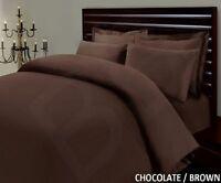 100% COTTON 500 THREAD CHOCOLATE CONTINENTAL SQUARE 65cm x 65cm PILLOW CASE PAIR