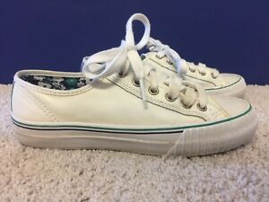 PF Flyers Sneakers Rigid Wedge Vulcanized Low Off White Mens 6.5 Womens 8