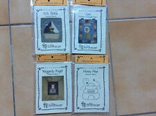 APPLIQUE PATTERNS X 3, STITCHERY X 1 ,  QUICKEES BY THE BIRDHOUSE