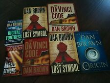 7 Hardcover Book Lot Dan Brown Robert Langdon Illustrated Da Vinci Code Origin
