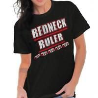 Redneck Funny Drinking Beer Drunk Joke Gift Womens Graphic T Shirts Tee T-Shirt