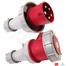 PCE 63 AMP 3P+N+E 415V IP67 Rated Trailing Plug & Socket 63A Waterproof 3 Phase