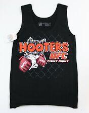 HOOTERS UFC FIGHT NIGHT GIRLS X-SMALL XS BLACK UNIFORM TANK TOP - NEW W/TAG