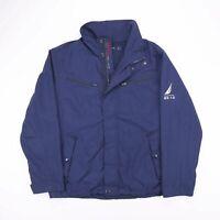 Vintage NAUTICA Navy Blue Mesh Lined Outdoors Jacket Size Men's Large