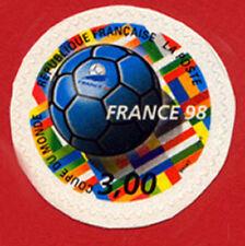 """Timbre autocollant """"Coupe du Monde de Foot 1998"""", n°17"""