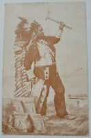 Native Indian Wyandotte Dairyman's Cleanser Advertising Card Ten Commandments
