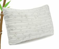 🥇 Simply Bamboo Comfort - Memory Foam Bed Pillows - Washable Cover, Queen 1pc