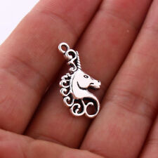 10pcs Tibetan Silver Unicorn Horse Pendant Charms Bead  24*16mm