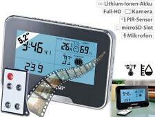 Somikon Spycam Wetterstation Full-HD-Überwachungskamera mit Wetterstation und Be