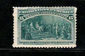 United States stamp #238, MHOG, perf. issues top left., 1893, SCV $200.00