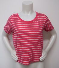 shirt gap junior L large pink gray striped Tee t-shirt