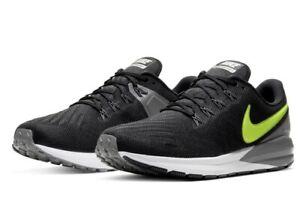 Nike AIR ZOOM STRUCTURE 22 UK 11.5 EU 47 Black Volt Running CW2641 001