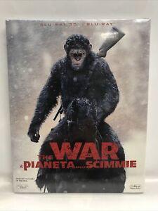 THE WAR - IL PIANETA DELLE SCIMMIE (2017)  - BLU RAY 3D + BLU RAY - NUOVO