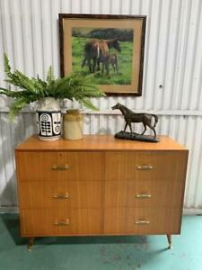 H40009 Vintage Retro Chest of Drawers Sideboard