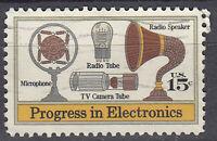 USA Briefmarke gestempelt 15c Progress in Electronics  / 2208