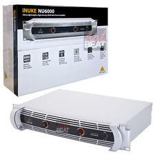 Behringer iNUKE NU6000 Rackmount Stereo Power Amplifier Lightweight 705105166582