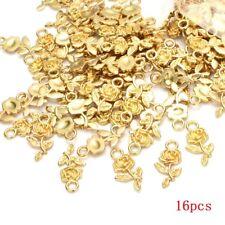 16pcs Wholesale Tibet Silver Rose Flower Charm Pendant beads Jewelry Making TR