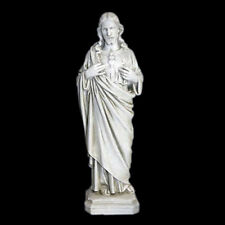 Jesus Christ Sacred Heart Statue Sculpture Christian Catholic reproduction 16""