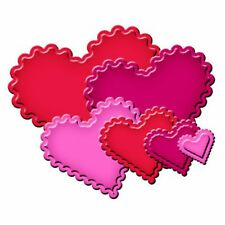 SPELLBINDERS NESTABILITIES cutting dies CLASSIC SCALLOPED HEARTS ww Cuttlebug