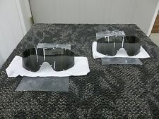 2 OAKLEY ESS PROFILE NVG GOGGLES MILITARY REPLACEMENT LENSES DARK SMOKE GARY NEW